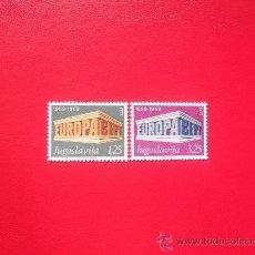Sellos: YUGOSLAVIA 1969, YVERT 1252-53, NUEVOS. Lote 148220354