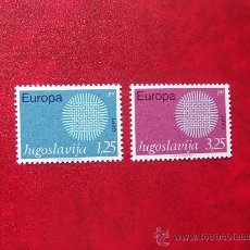 Sellos: YUGOSLAVIA 1970, YVERT 1269-70, NUEVOS. Lote 148220392