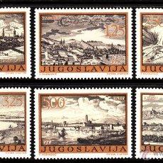 Sellos: YUGOSLAVIA 1384/89** - AÑO 1973 - ANTIGUOS GRABADOS DE CIUDADES YUGOSLAVAS. Lote 39493442