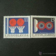 Sellos: YUGOSLAVIA 1991 IVERT 2348/9 *** CENTENARIO DEL BALONCESTO - DEPORTES. Lote 42160144