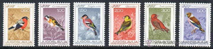 YUGOSLAVIA AÑO 1968 YV 1177/82*** DÍA DE LA JUVENTUD - AVES CANTORAS - FAUNA (Sellos - Extranjero - Europa - Yugoslavia)