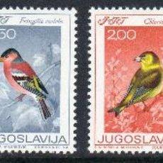 Sellos: YUGOSLAVIA AÑO 1968 YV 1177/82*** DÍA DE LA JUVENTUD - AVES CANTORAS - FAUNA. Lote 43587324