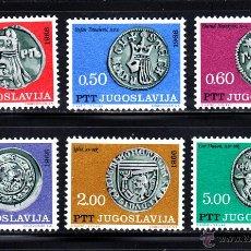 Sellos: YUGOSLAVIA 1082/87** - AÑO 1966 - MONEDAS ANTIGUAS. Lote 47260353
