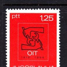 Sellos: YUGOSLAVIA 1211** - AÑO 1969 - 50º ANIVERSARIO DE LA ORGANIZACION INTERNACIONAL DEL TRABAJO. Lote 47260369