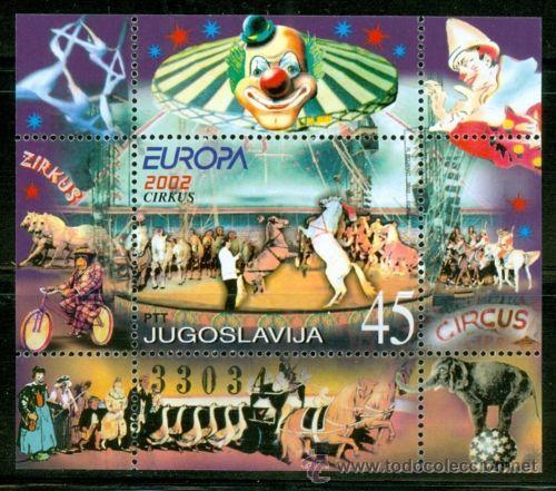 YUGOSLAVIA 2002 HB-54 CIRCO EUROPA 2002 NUEVO LUJO (Sellos - Extranjero - Europa - Yugoslavia)