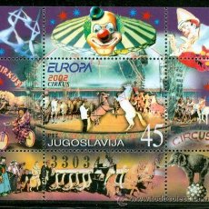 Sellos: YUGOSLAVIA 2002 HB-54 CIRCO EUROPA 2002 NUEVO LUJO. Lote 49584347