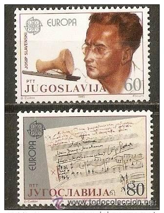 YUGOSLAVIA YVERT NUM. 1983/4 ** SERIE COMPLETA SIN FIJASELLOS EUROPA (Sellos - Extranjero - Europa - Yugoslavia)