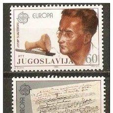 Sellos: YUGOSLAVIA YVERT NUM. 1983/4 ** SERIE COMPLETA SIN FIJASELLOS EUROPA. Lote 49690899