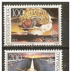 Sellos: YUGOSLAVIA YVERT NUM. 2033/4 ** SERIE COMPLETA SIN FIJASELLOS EUROPA. Lote 49690914