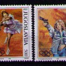 Sellos: YUGOSLAVIA 1992 - JUEGOS OLIMPICOS DE BARCELONA 92 - YVERT Nº 2402-2405. Lote 263254980