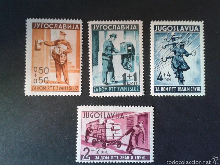 SELLOS DE YUGOSLAVIA. YVERT 370/4. SERIE COMPLETA NUEVA CON CHARNELA. (Sellos - Extranjero - Europa - Yugoslavia)