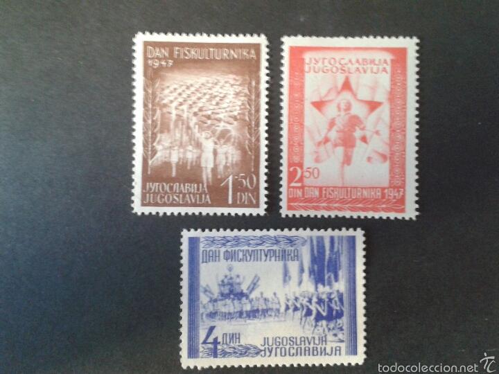 SELLOS DE YUGOSLAVIA. YVERT 463/5. SERIE COMPLETA NUEVA SIN CHARNELA. (Sellos - Extranjero - Europa - Yugoslavia)