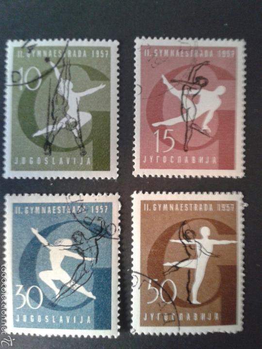 SELLOS DE YUGOSLAVIA. DEPORTES. GIMNASIA. YVERT 725/8. SERIE COMPLETA USADA. (Sellos - Extranjero - Europa - Yugoslavia)