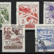 Sellos: YUGOSLAVIA YVERT Nº AV. 27/31 USADA. Lote 52976351