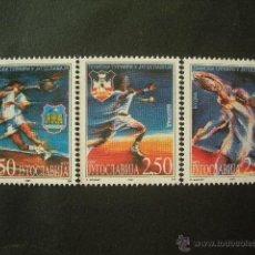 Sellos: YUGOSLAVIA 1997 IVERT 2676/8 *** TORNEO DE TENIS EN YUGOSLAVIA - DEPORTES. Lote 53202371