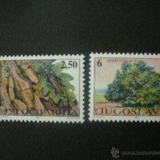 Sellos: YUGOSLAVIA 1997 IVERT 2683/4 *** PROTECCIÓN DE LA NATURALEZA - FAUNA Y FLORA . Lote 53202629