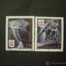 Sellos: YUGOSLAVIA 1998 IVERT 2706/7 *** JUEGOS OLIMPICOS DE INVIERNO EN NAGANO - DEPORTES. Lote 53232980