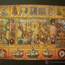 Sellos: YUGOSLAVIA 1992 HB IVERT 40 *** EUROPA - 500 ANIVERSARIO DEL DESCUBRIMIENTO DE AMERICA . Lote 53338894