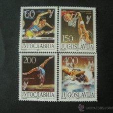Sellos: YUGOSLAVIA 1987 IVERT 2111/4 *** JUEGOS DEPORTIVOS UNIVERSITARIOS MUNDIALES - UNIVERSIADE-87. Lote 53374152