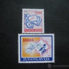 Sellos: YUGOSLAVIA 1989 IVERT 2209/10 *** SERIE BÁSICA - EL CORREO. Lote 54104033