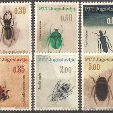 Sellos: YUGOESLAVIA 1966 – INSECTOS- SERIE COMPLETA (6 VALORES) - NR. MICHEL: 1149/54. Lote 54308464