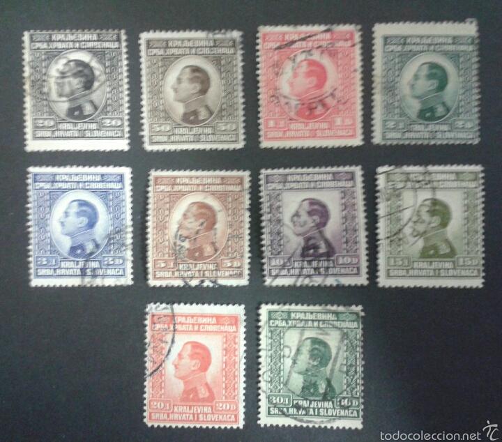 SELLOS YUGOSLAVIA. YVERT 158/67. SERIE COMPLETA USADA. (Sellos - Extranjero - Europa - Yugoslavia)