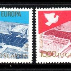 Sellos: YUGOSLAVIA 1585/86** - AÑO 1977 - CONFERENCIA EUROPEA SOBRE COOPERACION Y SEGURIDAD, BELGRADO. Lote 57051081