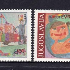 Sellos: YUGOSLAVIA 1829/30** - AÑO 1982 - JUEGOS DE EUROPA - ENCUENTRO INFANTIL EUROPEO. Lote 57244269