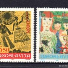 Sellos: YUGOSLAVIA 1885/86** - AÑO 1983 - JUEGOS DE EUROPA - ENCUENTRO INFANTIL EUROPEO. Lote 57244303