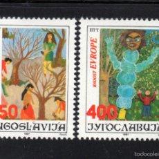 Sellos: YUGOSLAVIA 2121/22** - AÑO 1987 - JUEGOS DE EUROPA - ENCUENTRO INFANTIL EUROPEO. Lote 57244442