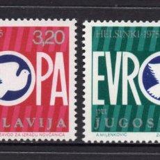 Sellos: YUGOSLAVIA 1506/07** - AÑO 1975 - CONFERENCIA DE SEGURIDAD Y COOPERACIÓN EUROPEA, HELSINKI. Lote 57336790