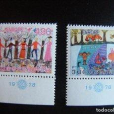 Sellos: YUGOSLAVIA. SERIE COMPLETA. NUEVA MNH**. YVERT Nº 1641/42. 1978. DIBUJOS INFANTILES. EUROPA.. Lote 69772677