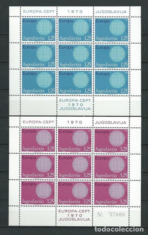 YUGOSLAVIA,1970,EUROPA,MNH**,BLOQUE DE 9 SELLOS (Sellos - Extranjero - Europa - Yugoslavia)