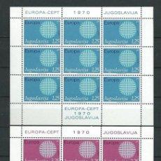Sellos: YUGOSLAVIA,1970,EUROPA,MNH**,BLOQUE DE 9 SELLOS. Lote 69904601