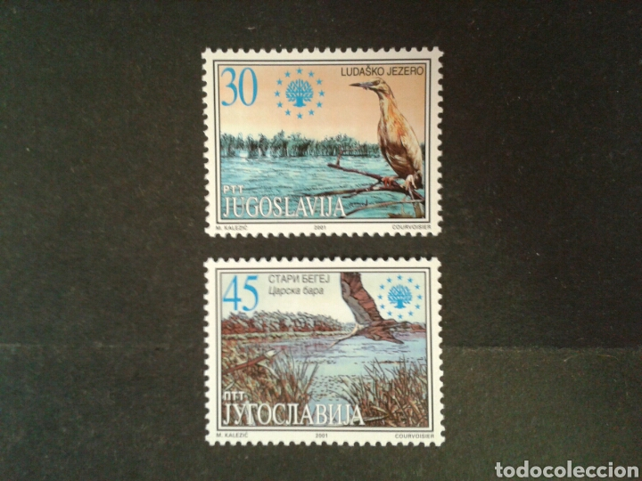 YUGOSLAVIA. YVERT 2881/2. SERIE COMPLETA NUEVA SIN CHARNELA. FAUNA. AVES. (Sellos - Extranjero - Europa - Yugoslavia)