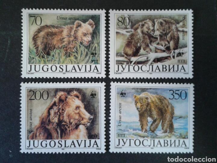 YUGOSLAVIA. YVERT 2141/4. SERIE COMPLETA NUEVA SIN CHARNELA WWF FAUNA. OSOS. (Sellos - Extranjero - Europa - Yugoslavia)
