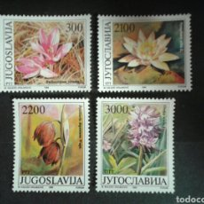 Sellos: YUGOSLAVIA. YVERT 2216/9. SERIE COMPLETA NUEVA SIN CHARNELA. FLORA.. Lote 95717070