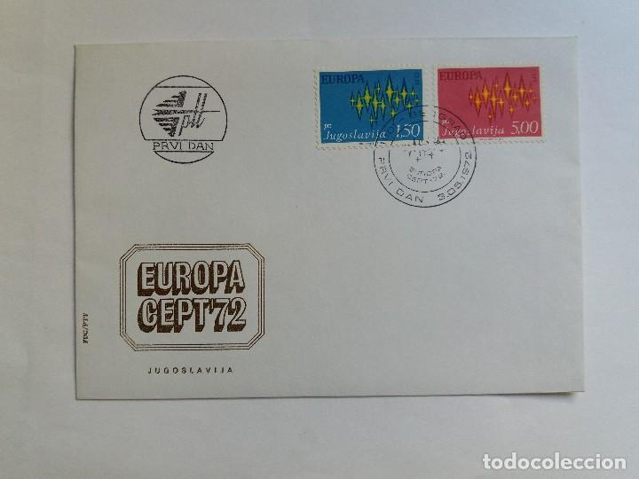 SOBRE PRIMER DIA - FDC - YUGOSLAVIA 1972 - EUROPA CEPT (Sellos - Extranjero - Europa - Yugoslavia)