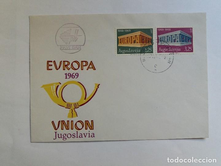 SOBRE PRIMER DIA - FDC - YUGOSLAVIA 1969 - EUROPA CEPT (Sellos - Extranjero - Europa - Yugoslavia)