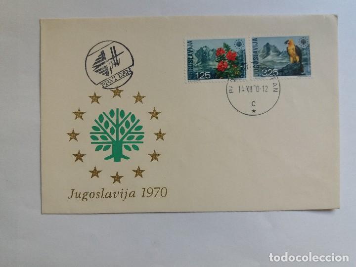 SOBRE PRIMER DIA - FDC - YUGOSLAVIA 1970 - FLORA FAUNA FLORES PÁJARO (Sellos - Extranjero - Europa - Yugoslavia)