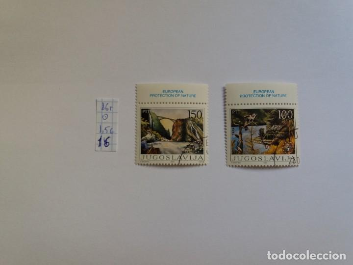 2 SELLOS - YUGOSLAVIA 1986, FAUNA, FLORA, EUROPA, PROTECCIÓN DE LA NATURALEZA, USADO, CTO (*) (Sellos - Extranjero - Europa - Yugoslavia)