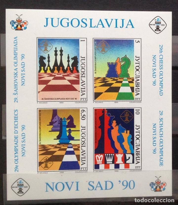 YUGOSLAVIA JUGOSLAWIEN YOUGOSLAVIE JUGOSLAVIA JUGOSLAVIJA 1990 AJEDREZ (Sellos - Extranjero - Europa - Yugoslavia)