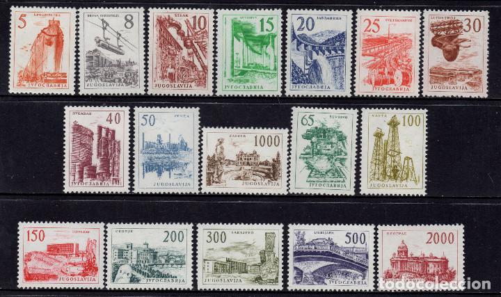 YUGOSLAVIA 852/68** - AÑO 1961 - INDUSTRIALIZACION Y CAPITALES (Sellos - Extranjero - Europa - Yugoslavia)