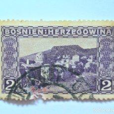 Sellos: SELLO POSTAL BOSNIA Y HERZEGOVINA 1906, 2 HELLER , MOSTAR , USADO. Lote 149867702