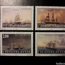 Sellos: YUGOSLAVIA. YVERT 2737/40. SERIE COMPLETA NUEVA SIN CHARNELA. BARCOS.. Lote 151304132