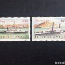 Sellos: YUGOSLAVIA Nº YVERT 1699/0*** AÑO 1979. BARCOS DE VAPOR. Lote 153148222