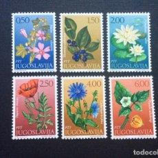 Sellos: YUGOSLAVIA Nº YVERT 1305/0*** AÑO 1971. FLORES. Lote 153741002