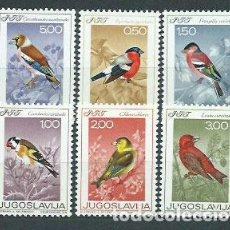 Sellos: YUGOSLAVIA - CORREO 1968 YVERT 1177/82 ** MNH FAUNA AVES. Lote 157372612