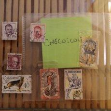 Sellos: LOTE DE SELLOS ANTIGUOS CHECO ,NO SE DESCOMPLETA EL LOTE . Lote 158671602