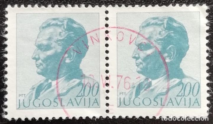 1974. HISTORIA. YUGOSLAVIA. 1437. RETRATO DEL MARISCAL TITO. SELLOS EN PAREJA. SERIE CORTA. USADO. (Sellos - Extranjero - Europa - Yugoslavia)